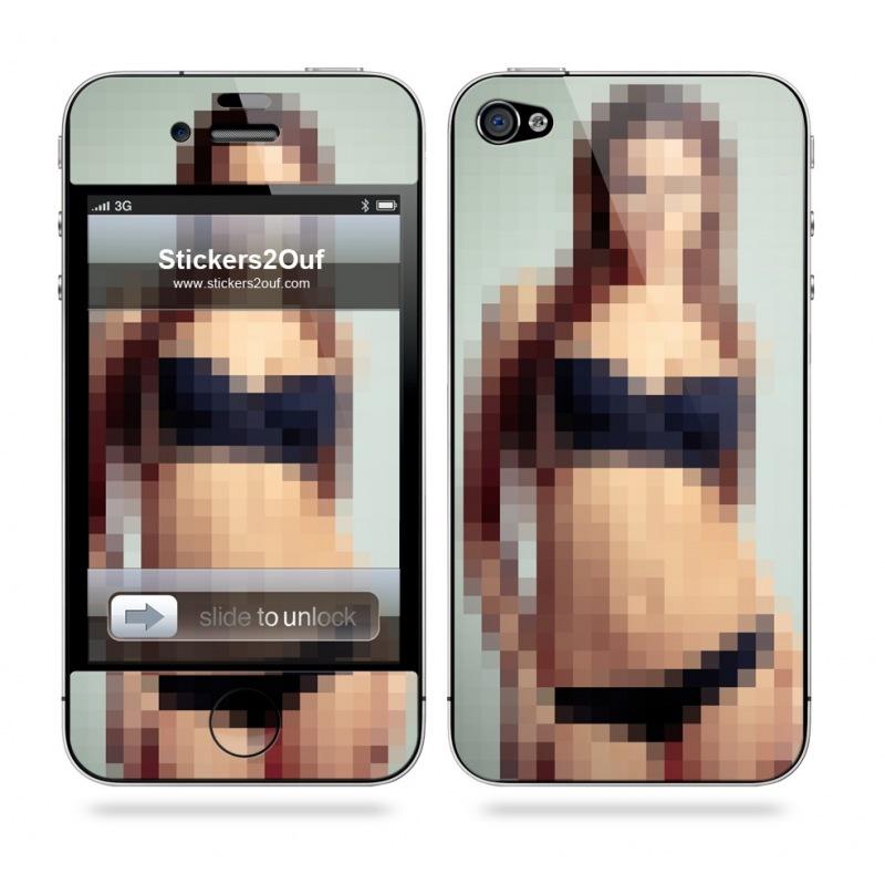Pixel Girl iPhone 4 & 4S