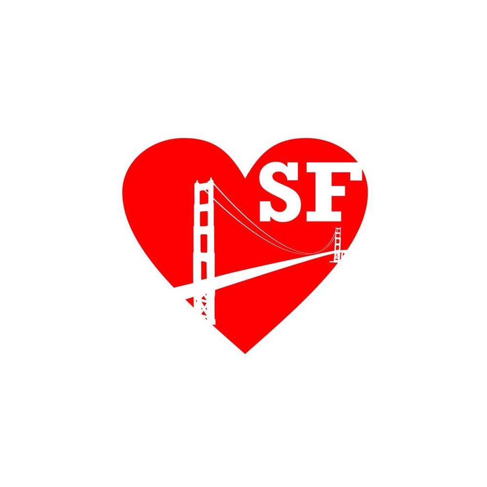 Decal i love san francisco for Autocollant mural ikea