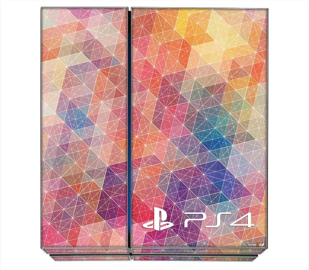 geometric ps4 sony skin. Black Bedroom Furniture Sets. Home Design Ideas