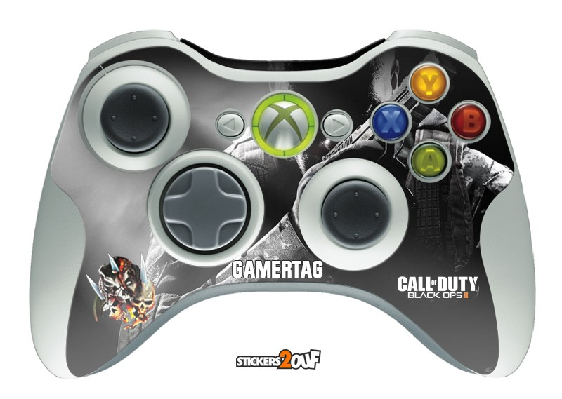 Black OPS II + Gamertag Xbox360 Pad
