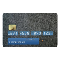 Black Leather Credit-card