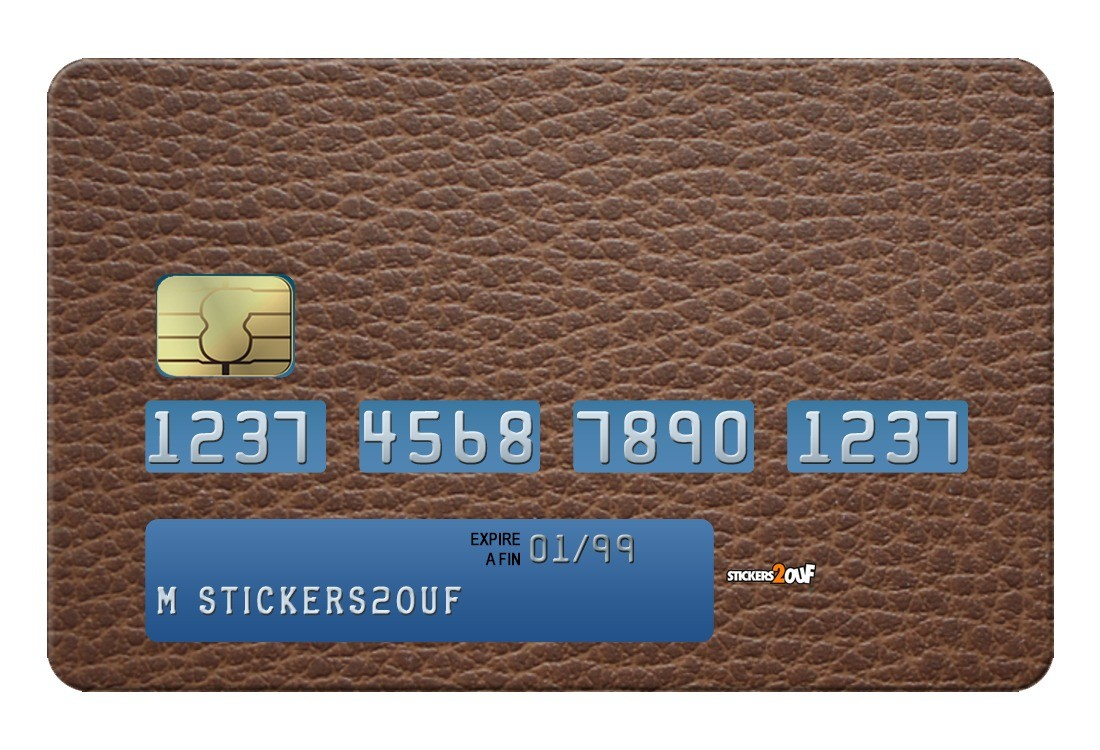 Brown Leather Credit-card