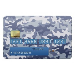 Blue camo Credit-card