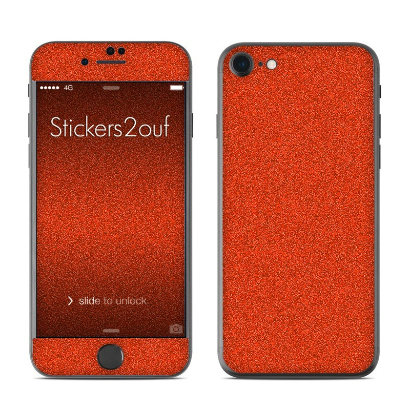 Glitter Orange iPhone 7