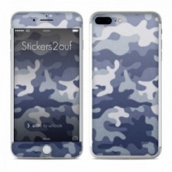Camo bleu iPhone 7 Plus
