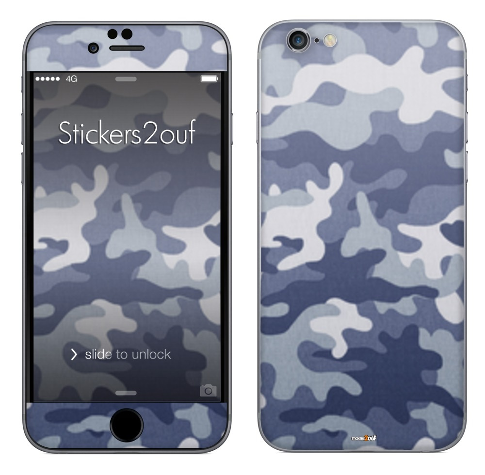 Camo bleu iPhone 6 Plus