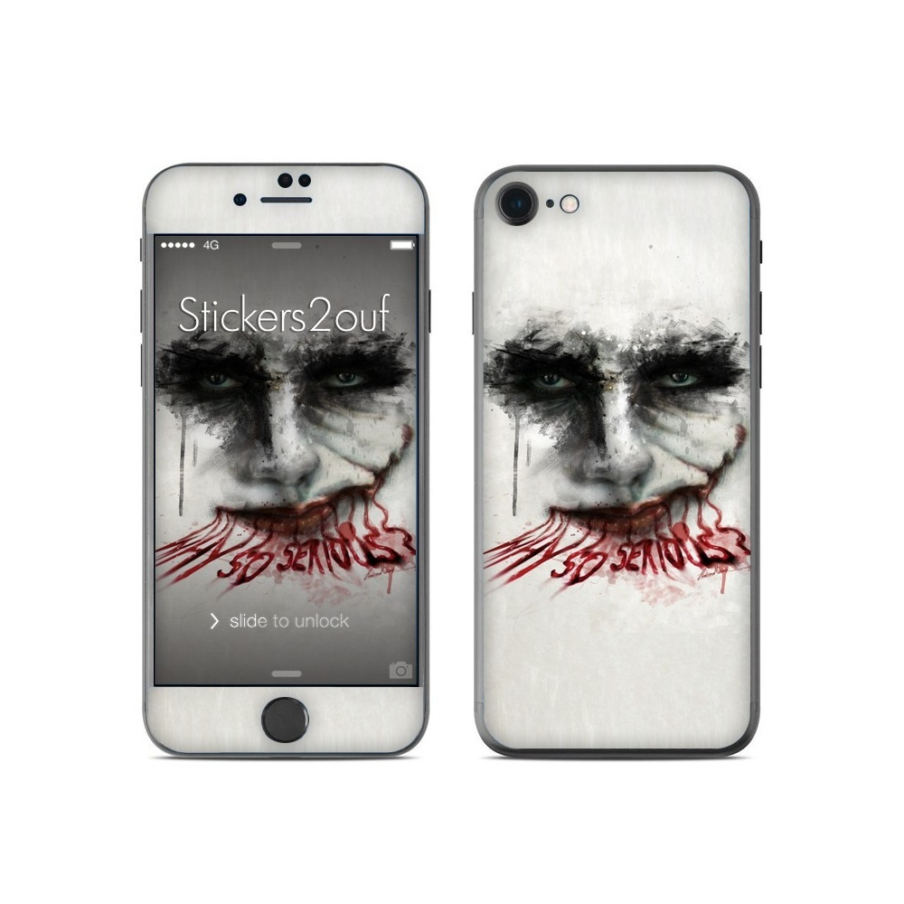 skin why so serious iphone 7 apple. Black Bedroom Furniture Sets. Home Design Ideas