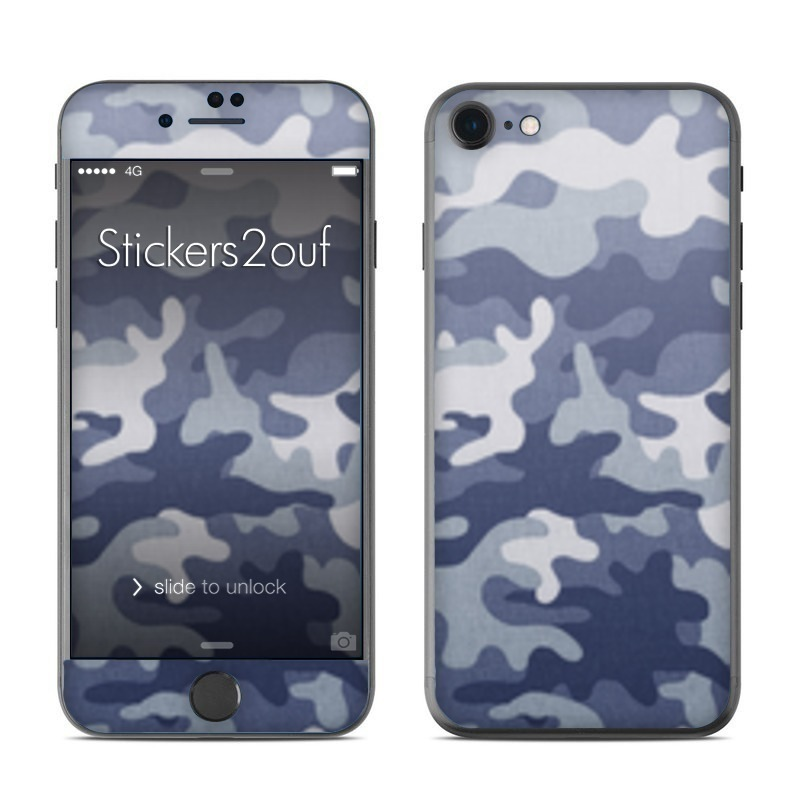 Camo bleu iPhone 7
