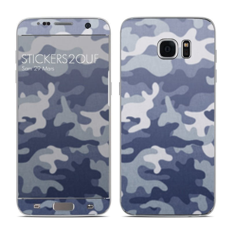 Camo bleu Galaxy S7 Edge