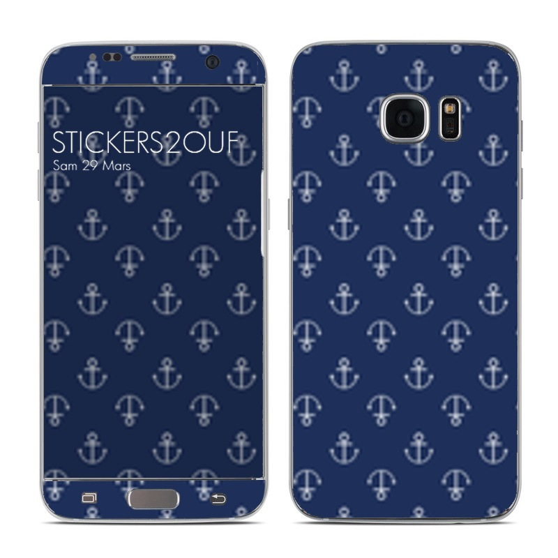 Blue Anchor Galaxy S7 Edge