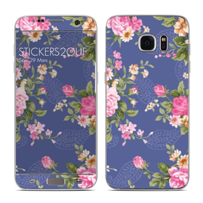 Vintage flower Galaxy S7 Edge
