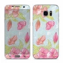 Pastel flowers Galaxy S7 Edge
