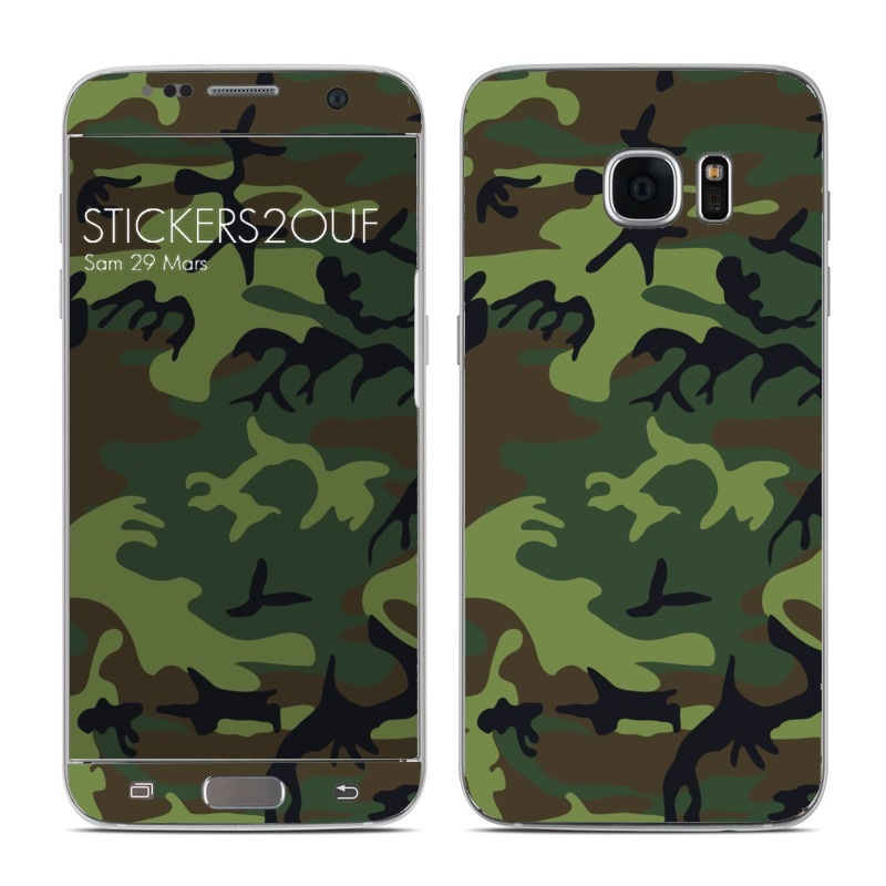 Forest camo Galaxy S7 Edge