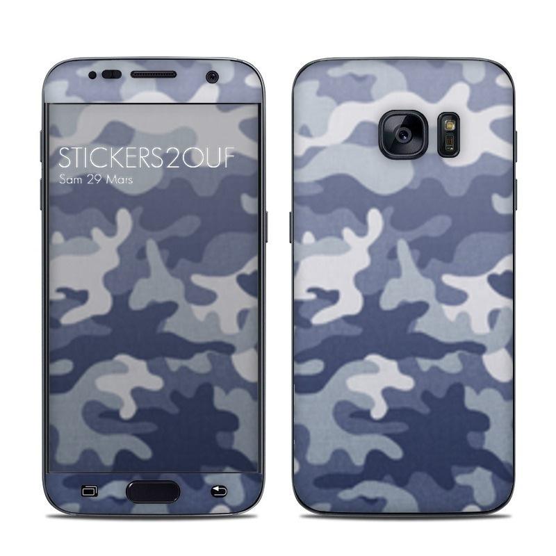 Camo bleu Galaxy S7
