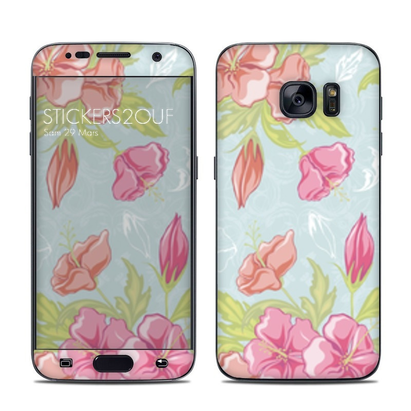 Pastel flowers Galaxy S7
