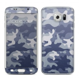 Camo bleu Galaxy S6 Edge