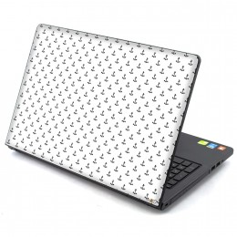 White anchor Laptop