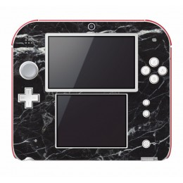 Black marble Nintendo 2DS