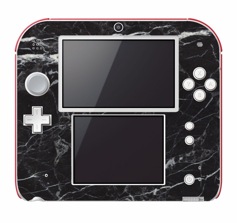 Black marble Nintendo 2DS