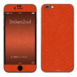 Glitter Orange iPhone 6 et 6S