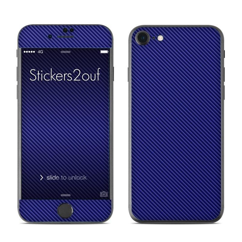 skin carbone bleu iphone 7 apple. Black Bedroom Furniture Sets. Home Design Ideas