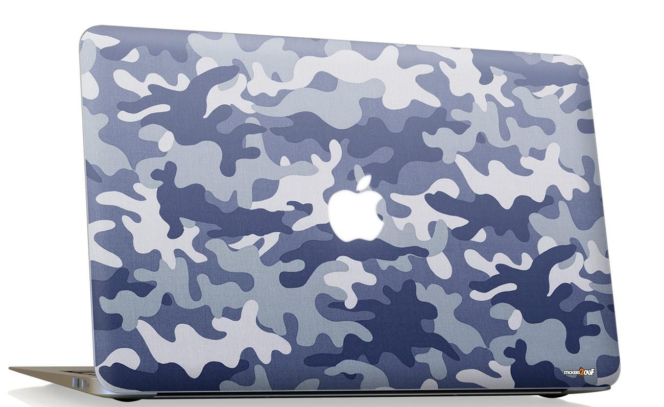 Camo blue Macbook