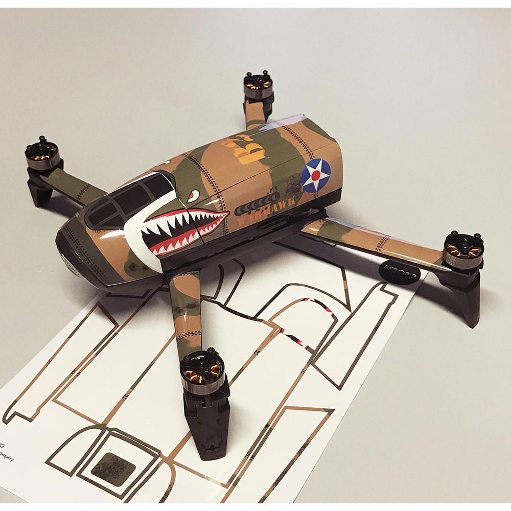 skin autocollant warhawk bebop 2 drone parrot. Black Bedroom Furniture Sets. Home Design Ideas