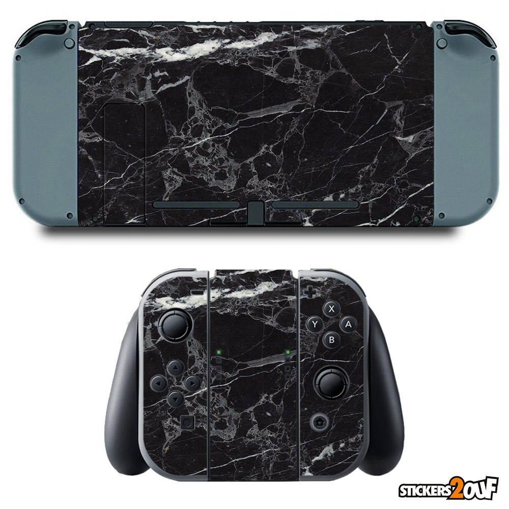 Black marble Nintendo Switch