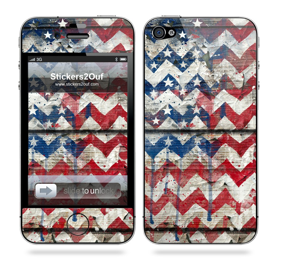 USA Chevron iPhone 4 & 4S