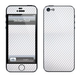 Carbone Blanc Complet Iphone 5