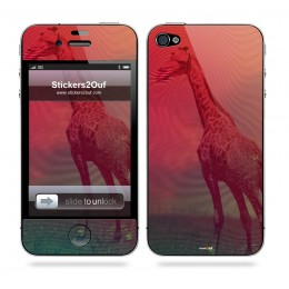 Abstract Girafe iPhone 4 & 4S