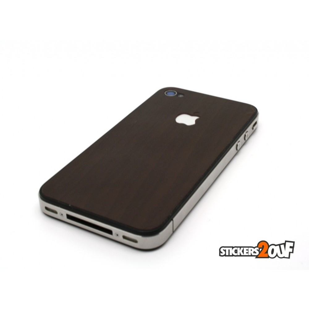 coque stickers effet bois iphone 4 apple. Black Bedroom Furniture Sets. Home Design Ideas