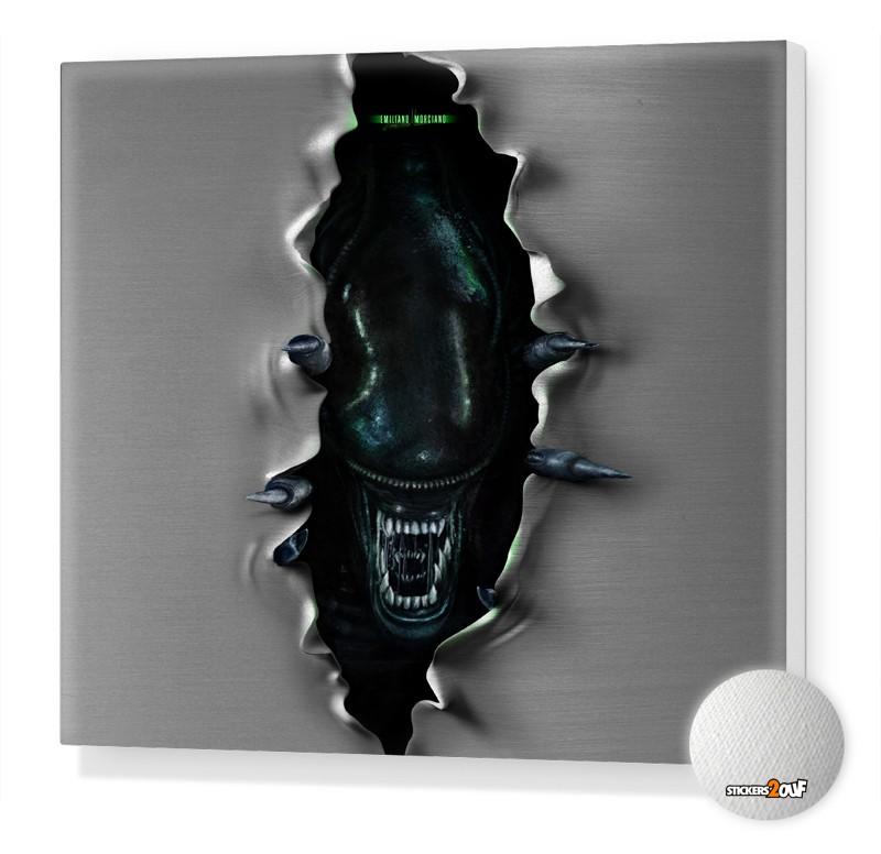 Alien Toile Canvas