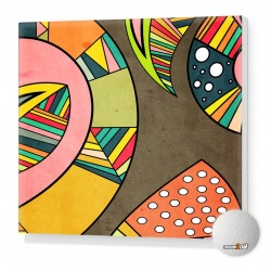 Cosmic Aztec Stretched canvas