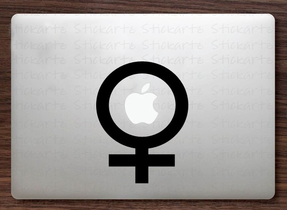 Women Sign Macbook