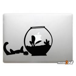 Cat and Fish Macbook