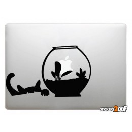 Cat and Fish Macbook