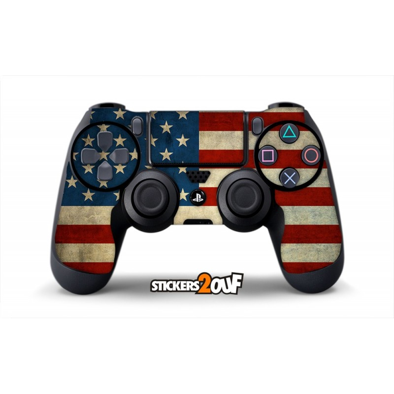 usa dualshock 4 sony skin. Black Bedroom Furniture Sets. Home Design Ideas