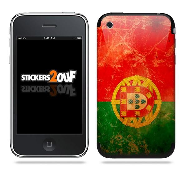 Drapeau Portugal Skin iPhone 3G et 3GS
