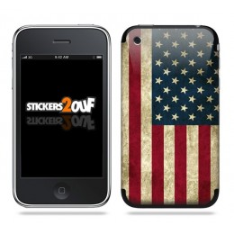 Drapeau USA Skin iPhone 3G et 3GS