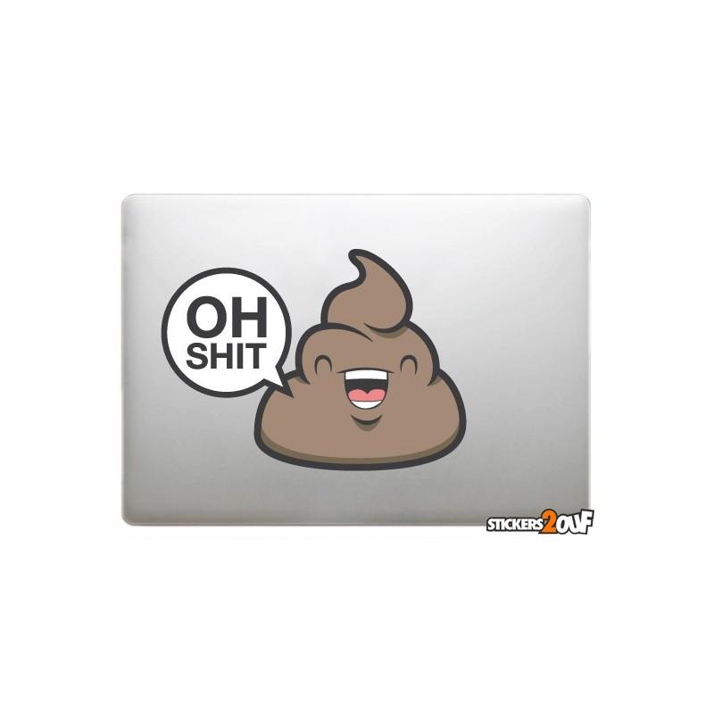 Oh Shit ! Sticker Macbook
