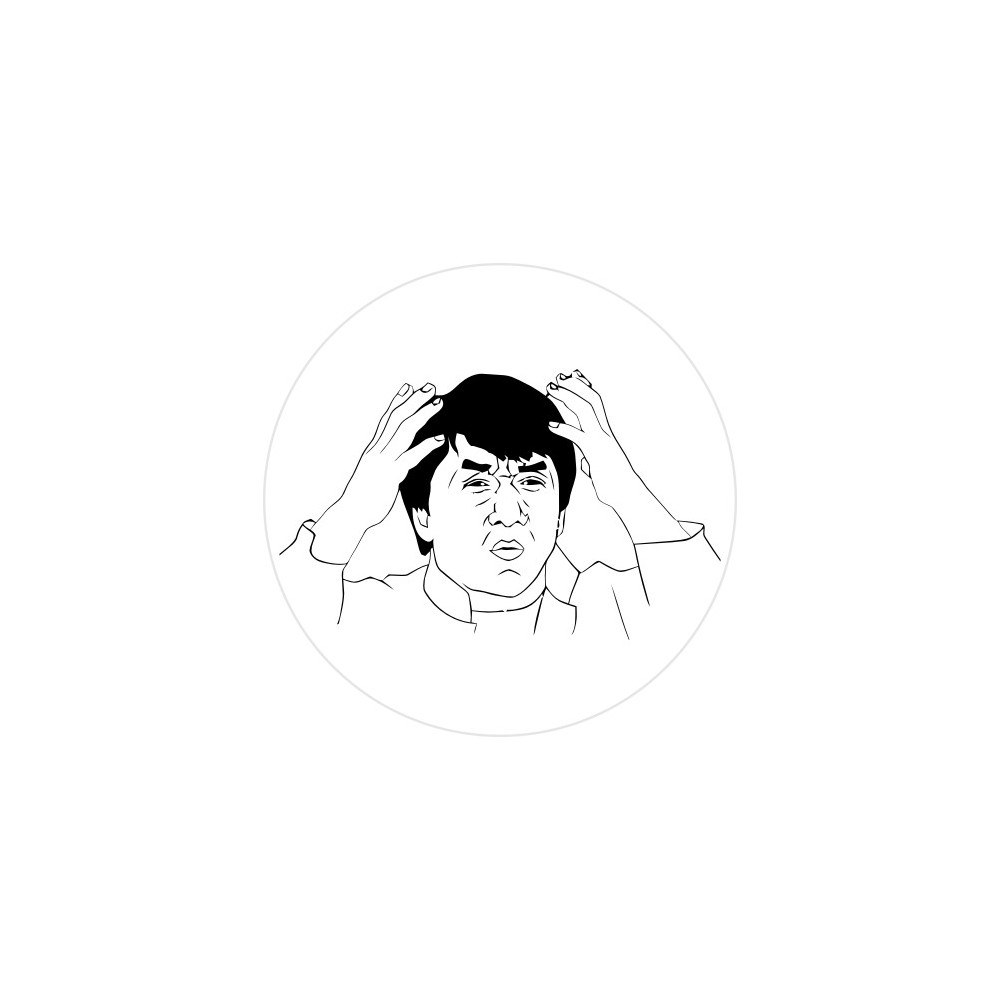 Jackie Chan Stickers2ouf Sticker