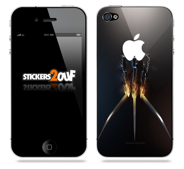 skin xmen iphone 4 et 4s apple. Black Bedroom Furniture Sets. Home Design Ideas