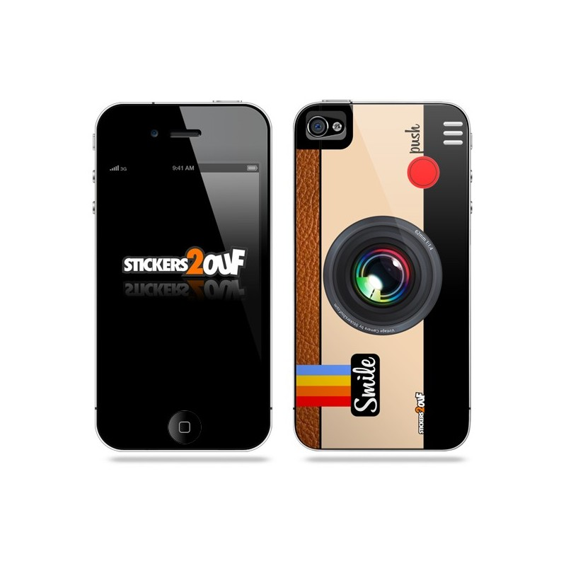 iphone 4s camera vintage iphone 4 et 4s apple skin 10907