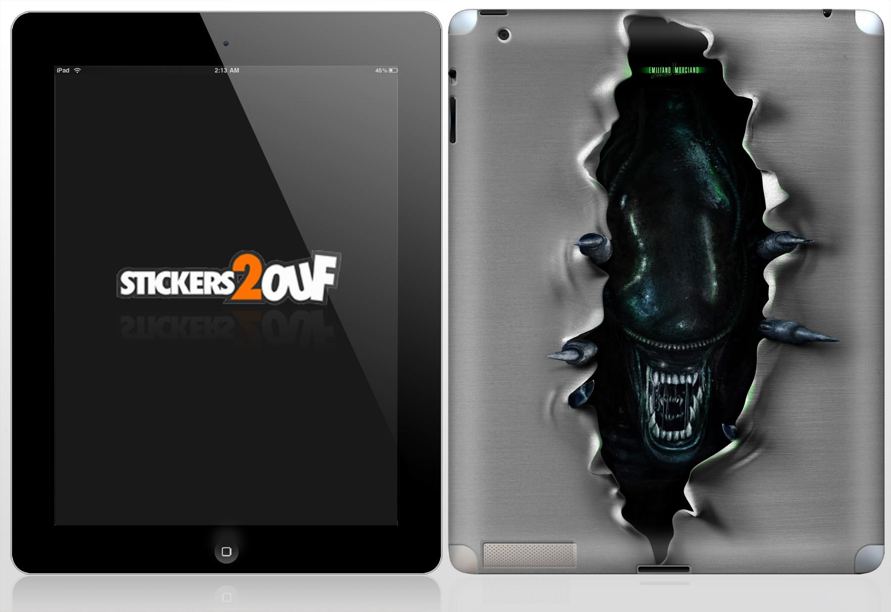 Alien iPad 2 et Nouvel iPad