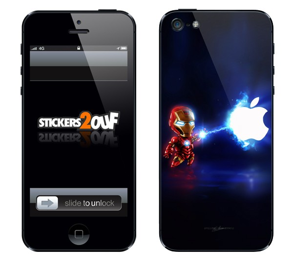 Mini IronMan iPhone 5 et 5S