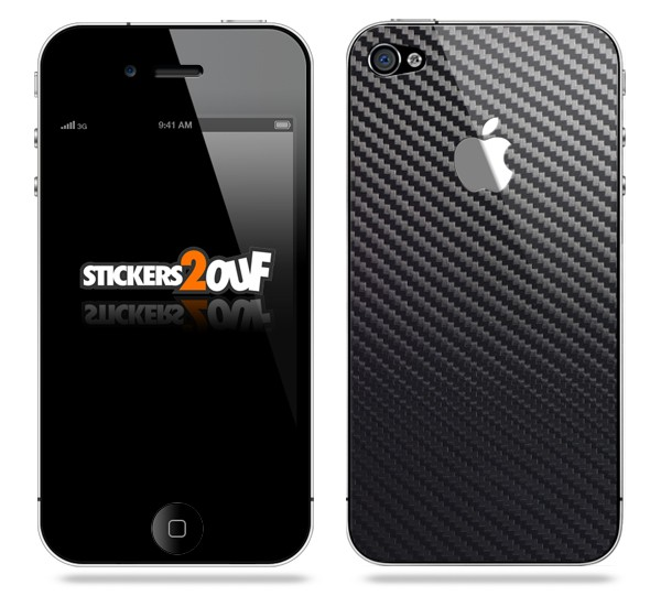 Stickers Carbone Iphone 4