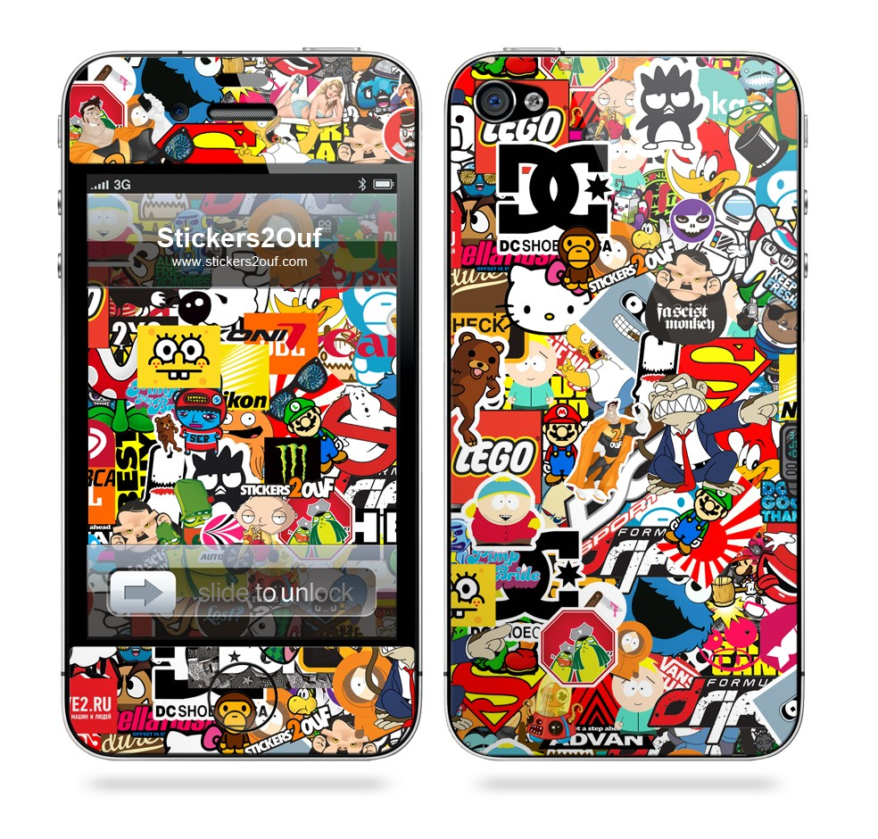 StickerBomb iPhone 4 & 4S