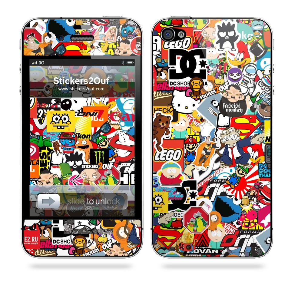 StickerBomb iPhone 4 & 4S
