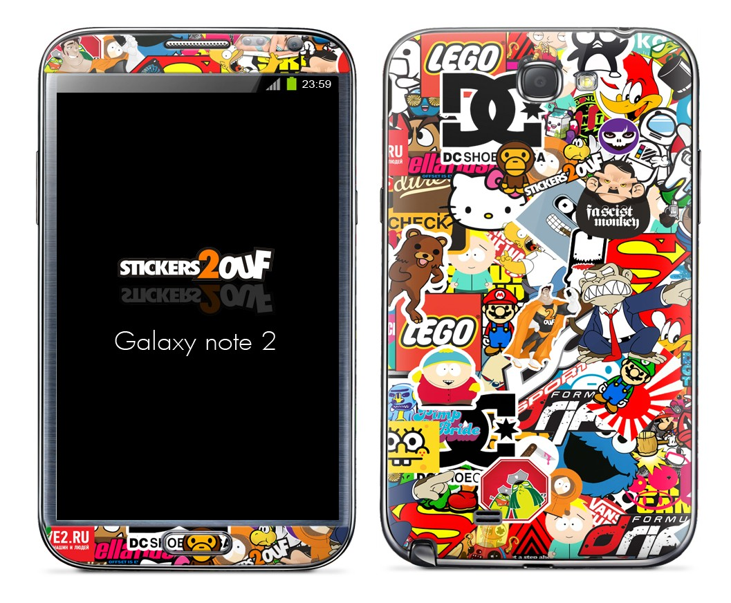 StickerBomb Galaxy Note 2